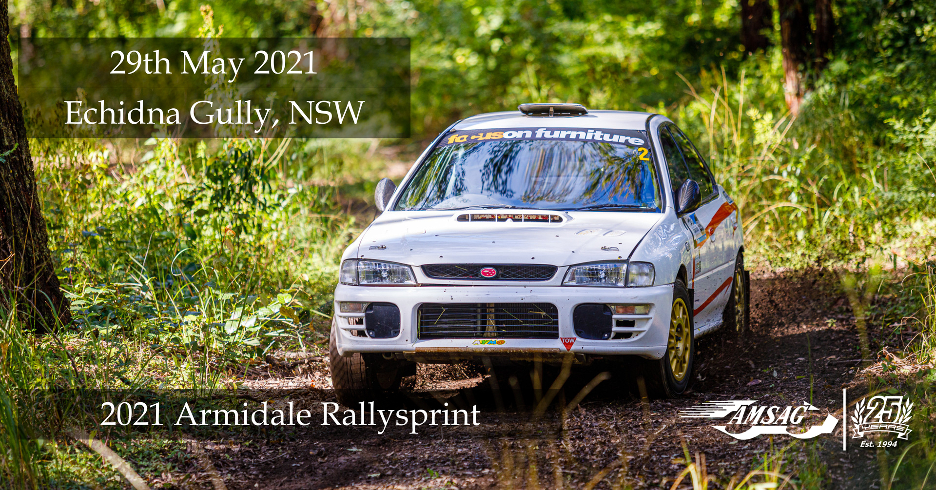 Entries are now open for the 2021 Armidale Rallysprint. Head to the AMSAG Blog Post for more details.